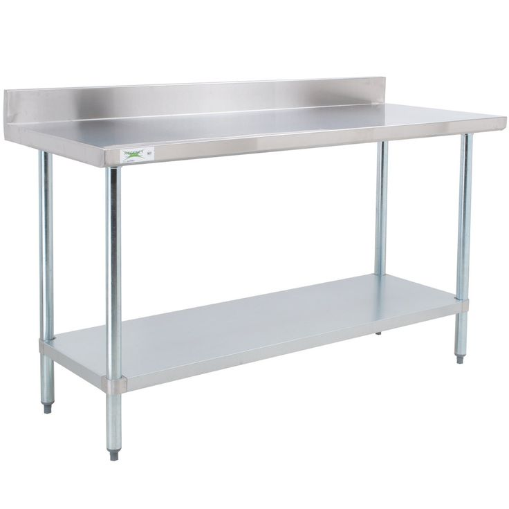 Stainless Steel Work Table With Backsplash Model Home Design Ideas Delectable Stainless Steel Work Table With Backsplash Design