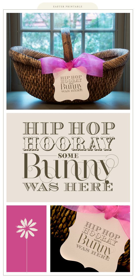 Super cute Easter printable to put on your child's Easter basket