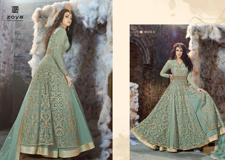 Zoya Bridal Heavy Ceremony Designer Women Ethnic Anarkali Salwar Suit Party8145 in Clothing, Shoes & Accessories, Women's Clothing, Dresses   eBay