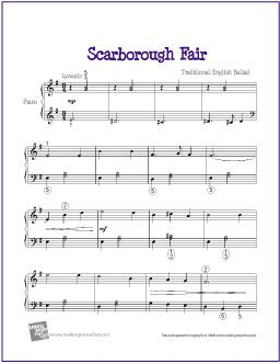 Scarborough Fair | Free Sheet Music for Piano