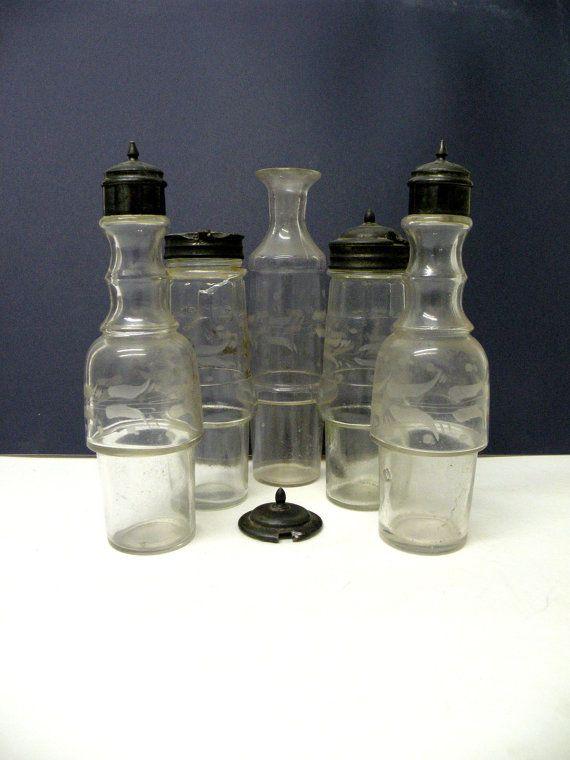 Etched Glass Bottle Sheffield