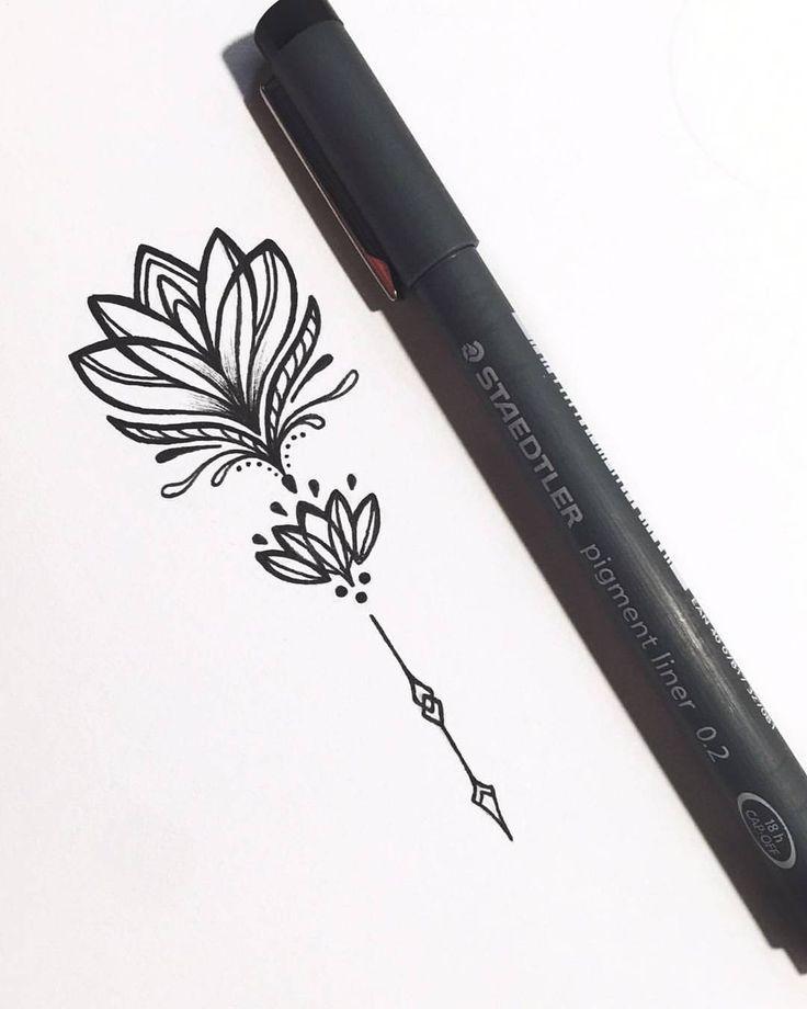Idée avec typo tige (lotus du haut)
