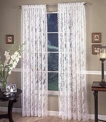 Dining Room Table See More Lace Curtains
