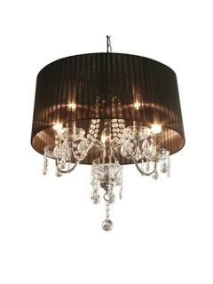 Black Shaded Chandelier