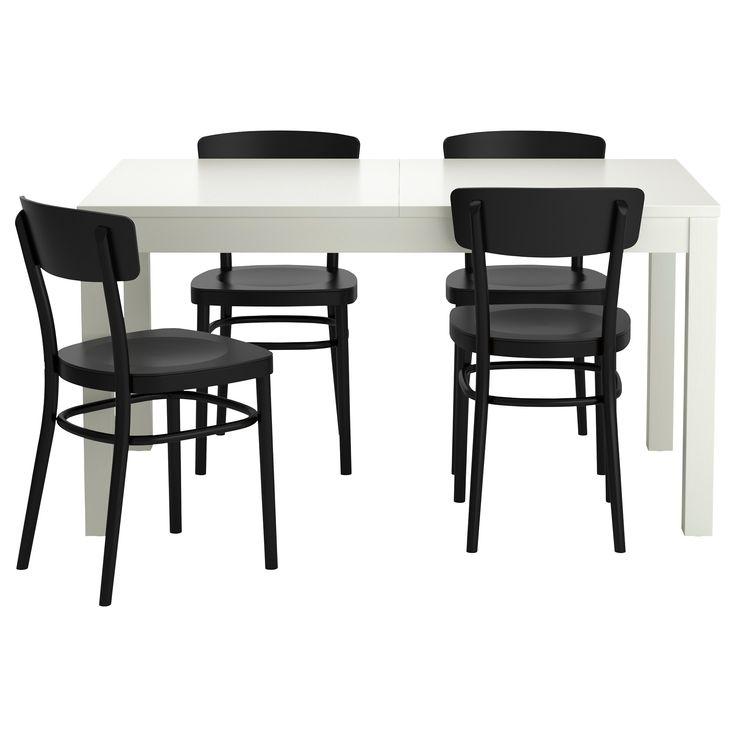 BJURSTA/IDOLF Tavolo e 4 sedie - nero - IKEA