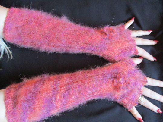 Knitted stylish fingerless gloves fingerless mitten by Milevknitting #HandmadebyMilevknitting #Mittens