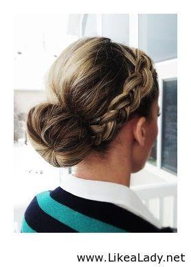 French braid into bun