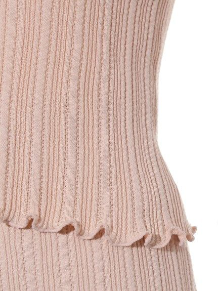 フリルニットプルオーバー(プルオーバー) snidel(スナイデル) ファッション通販 ウサギオンライン公式通販サイト