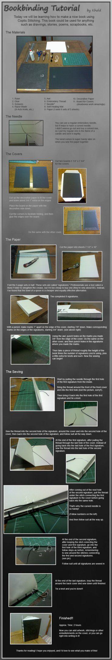 Bookbinding Tutorial by *LightAesthetic on deviantART