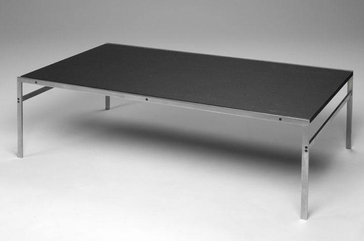 bo-550 coffee table in steel and slate. Designed by Fabricius & Kastholm in 1963. Manufactured by bo-ex furniture. http://www.bo-ex.dk/project/bo-550/