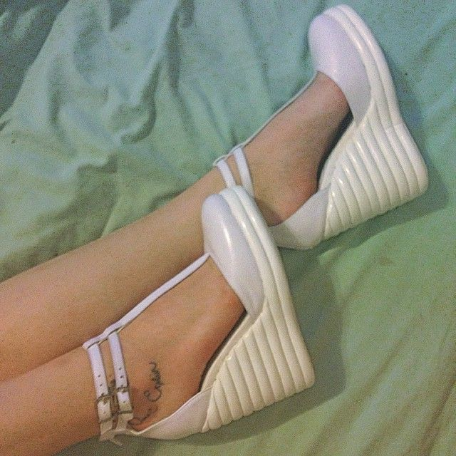 Lindsey in the Jeffrey Campbell Sous Leather Wedge || Get the wedges: http://www.nastygal.com/product/jeffrey-campbell-sous-leather-wedge?utm_source=pinterest&utm_medium=smm&utm_term=ngdib&utm_content=omg_shoes&utm_campaign=pinterest_nastygal