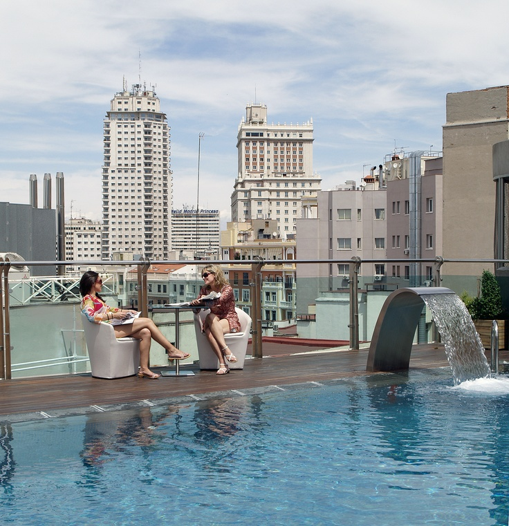 1000 images about azotea piscina hotel santo domingo for Piscinas azoteas madrid