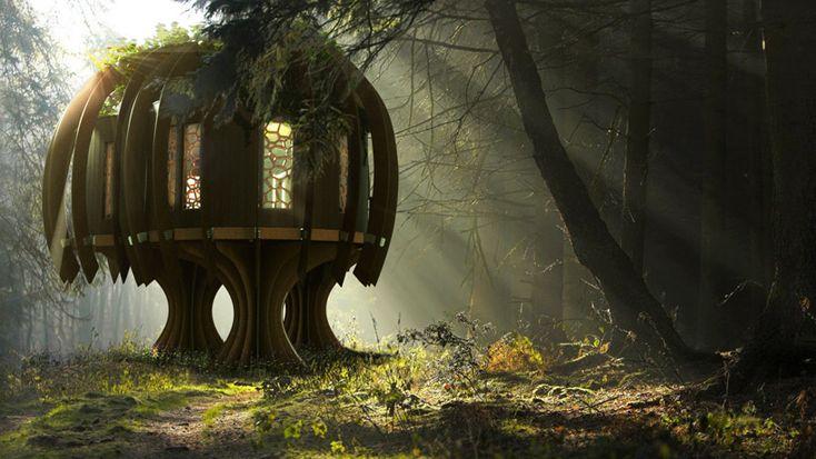 l'architecture prend du sens et s'ouvre à son environnement. La fin du chêne, le début du roseau ? blue-forest-the-quiet-treehouse via designboom