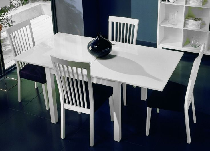 lucido extending dining table from italian company casabella solid beech with high gloss lacquer