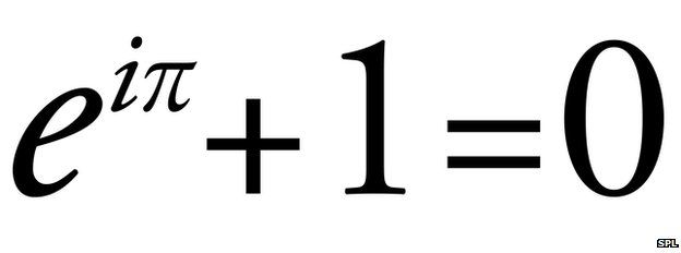 Euler's Formula/Identity. (Five of the most important mathematical constants - zero (additive identity), one (multiplicative identity), e and PI  (the two most common transcendental numbers) and i (fundamental imaginary number)).