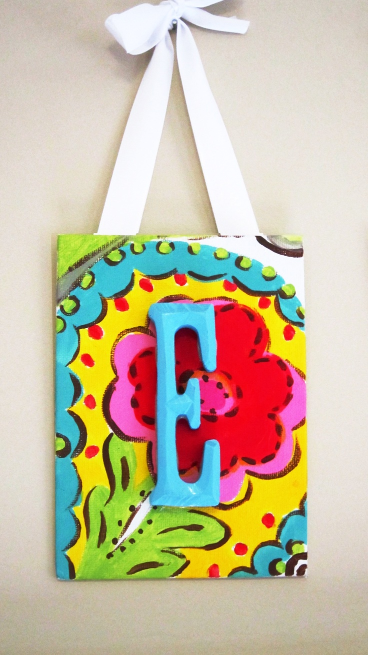 98 best images about initial canvas ideas on pinterest for Wooden letters on canvas