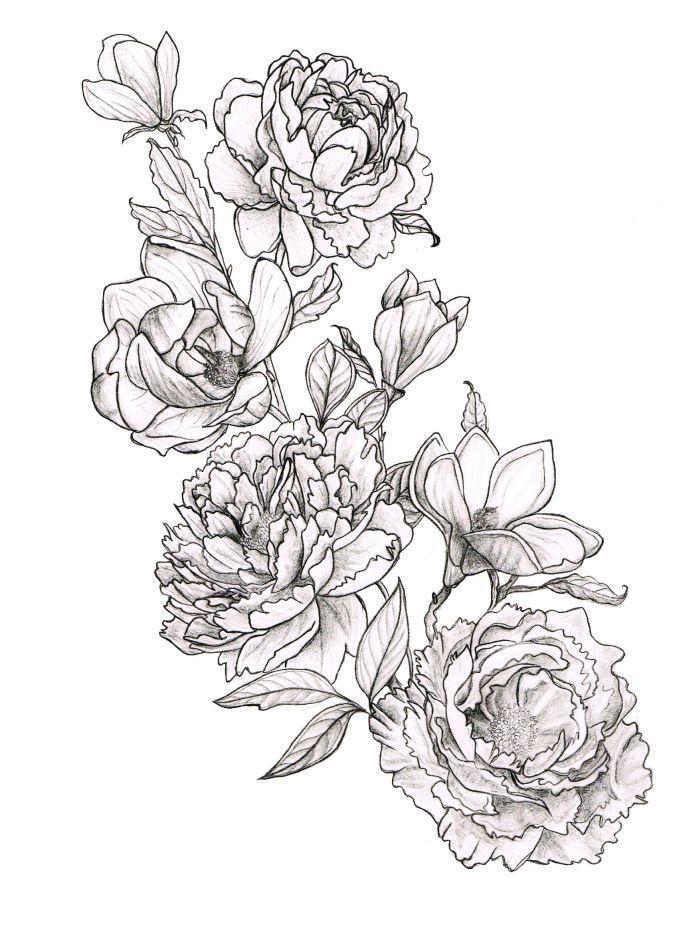 Peonies And Magnolias