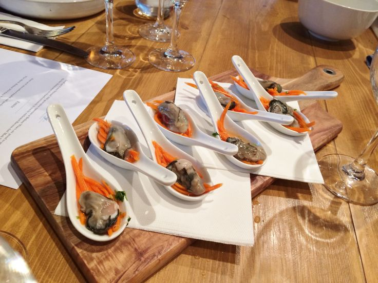 Fresh oysters matched perfectly with our 2013 Eden Valley Riesling.