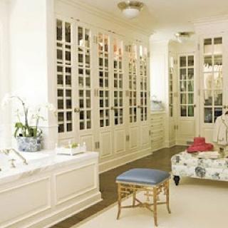Closets   Dressing Room, Dressing Room Ideas, Bamboo Stool, Gold Bamboo  Stool, Chic Walk In Closet/bathroom Master Bathroom Closet Space!