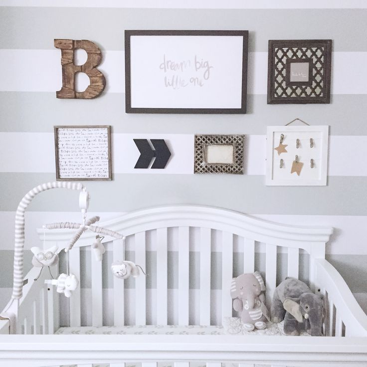 Get Inspired With This Modern Nursery By @LittleMissFearless. She Used Cool Vinyl  Wall Stripes