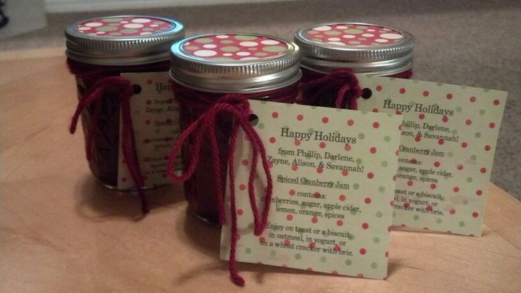 Spiced cranberry jam gifts | Hand made gifts | Pinterest
