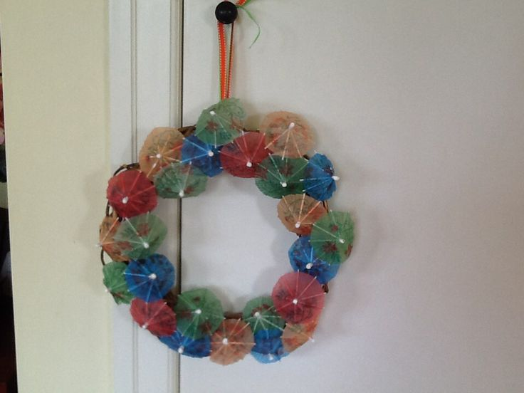 Cocktail Umbrella Wreath for Charlotte Lucy
