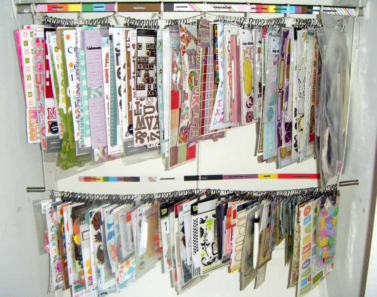 Closet Clip-It-Up Storage System - Scrapbook.com: Crafts Rooms, Storage System, Rooms Ideas, Closet Clip It Up, Scrapbook Storage, Scraproom Ideas, Scrapbook Closet, Clip It Up Storage, Closet Storage