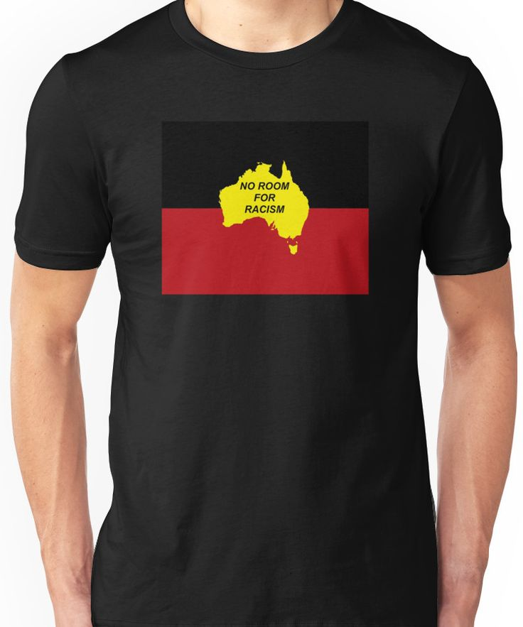 No Room for Racism - Aboriginal Flag (zoomed out) Unisex T-Shirt
