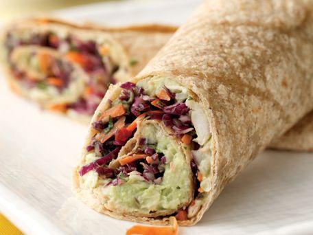 Creamy Avocado & White Bean Wrap... this site has cheap healthy meals