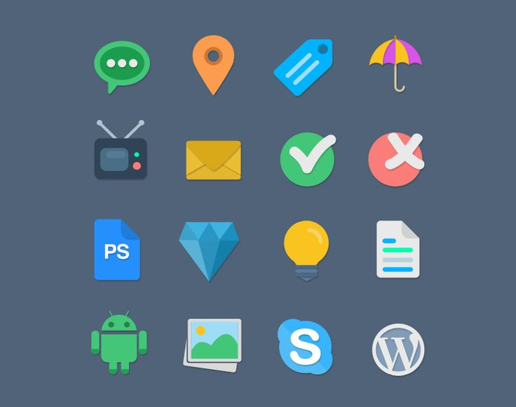 16 Free Handcrafted Flat Vector Icons