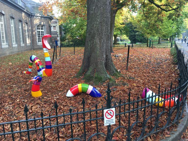 Maastricht, slang/worm door de grond