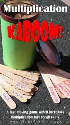Multiplication Kaboom Fantastic tables game for class or group