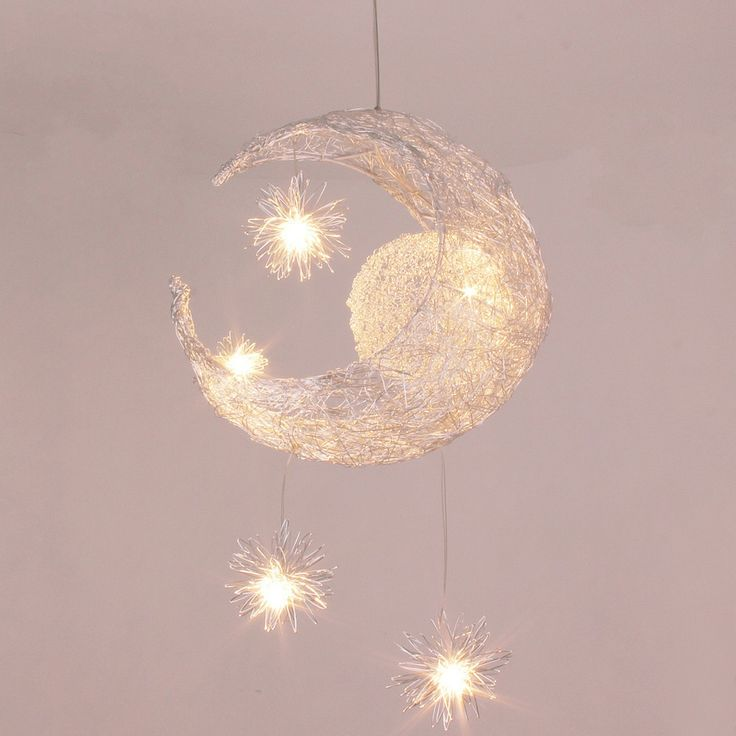 2013 new novelty Kid children room light lamp modern pendant light lamp for home Moon Star light wicker lamp light-in Ceiling ... $45