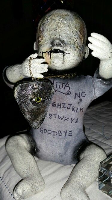 """The All-seeing Ouija"" by Dark Alley Dolls  www.facebook.com/darkalleydolls  www.etsy.com/shop/darkalleydolls"