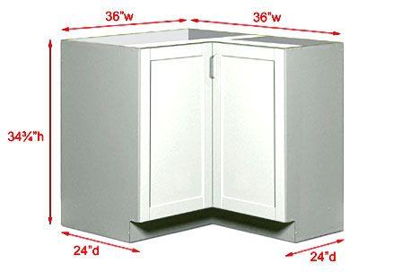 Corner Kitchen Cabinet Dimensions Standard - WoodWorking ...