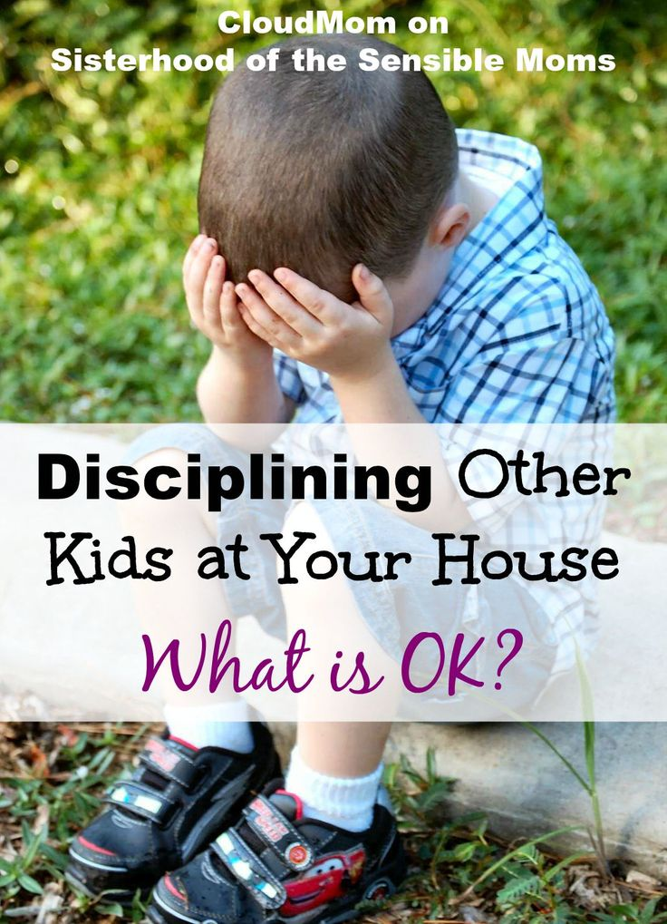 A tricky parenting situation if there ever was one: Disciplining Other Kids at Your House - What is Ok? Parenitng advice you NEED from CloudMom on Sisterhood of the Sensible Moms