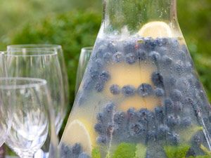 Blueberry Lemonade with Fresh Mint Recipe from The Food Channel.     This festive lemonade is deliciously refreshing and makes an attractive addition to your table or picnic.