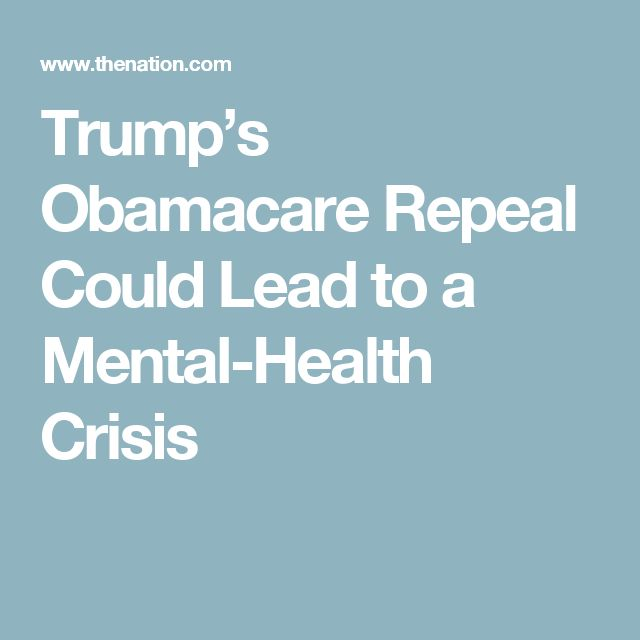 """""""Trump's Obamacare Repeal Could Lead to a Mental-Health Crisis."""" The writer should have said that IT WILL lead to a mental health crisis, and with that all that it entails. Prior to the ACA, health insurance companies did not cover behavioral health to the same degree as physical health because they were not required by law to do so. Without the equal mental health care coverage afforded by the ACA, there WILL be a rise in unemployment, crime, abuse, poverty, and homelessness. -V. S."""