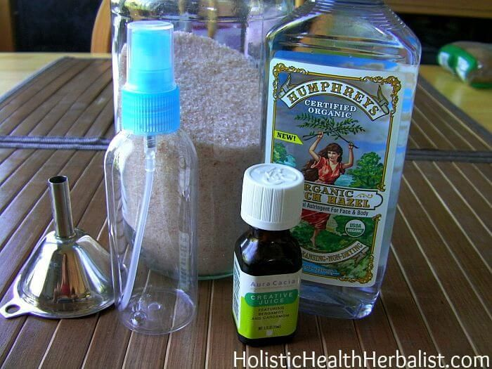 Homemade Mineral Salt Deodorant Spray - Holistic Health Herbalist