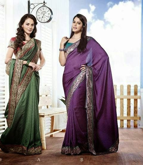 Party Wear Pleasant Saree Dresses 2014 By Satya Paul