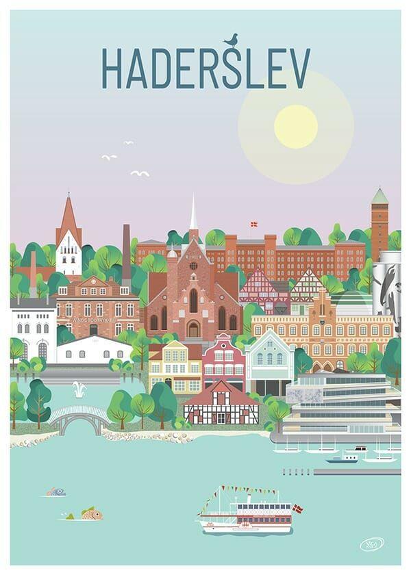 Haderslev Plakat I 2020 Grafisk Illustration Plakater Vandtarn