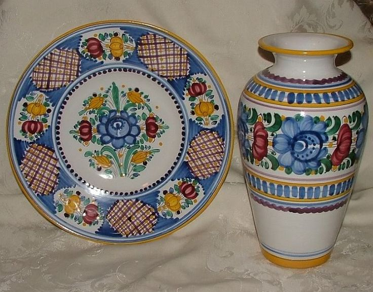 Beautiful MODRA Slovakia Ceramics 1990s Large Vase & Char... - bidStart (item 26677553 in Collectibles & Ephemera... Other)