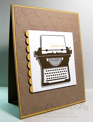 Like this stamp set with the typewriter