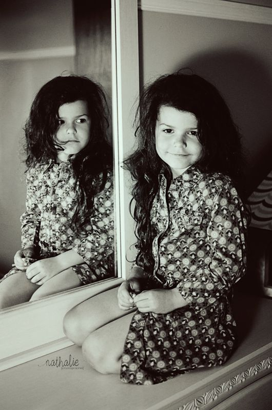 Little girl Trapped in the mirror