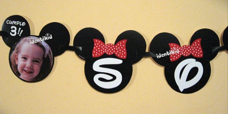 IDENTIKID - Banderín Minnie personalizado . Varios formatos - listos para colgar.- www.facebook.com/identikid
