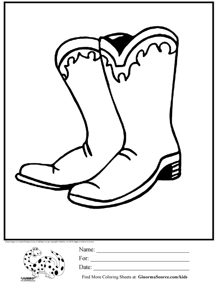 country boots coloring pages - photo#26