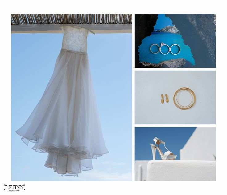 Wedding dress, wedding rings , wedding shoes details by Leonn