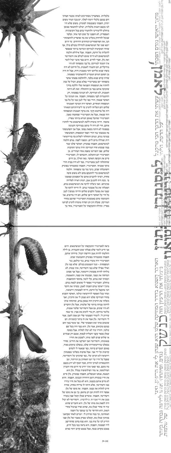 """Hatove'a"" (book design) by Yaronimus Maximus, via Behance"