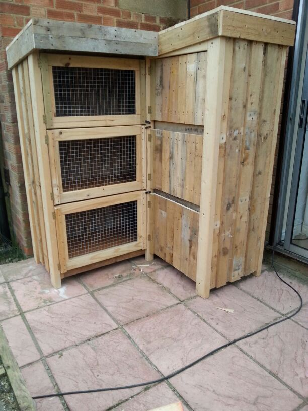 how to make a bunny cage out of wood