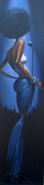 HARLEM BLUE ORIGINAL.....OMG! I want this painting!...